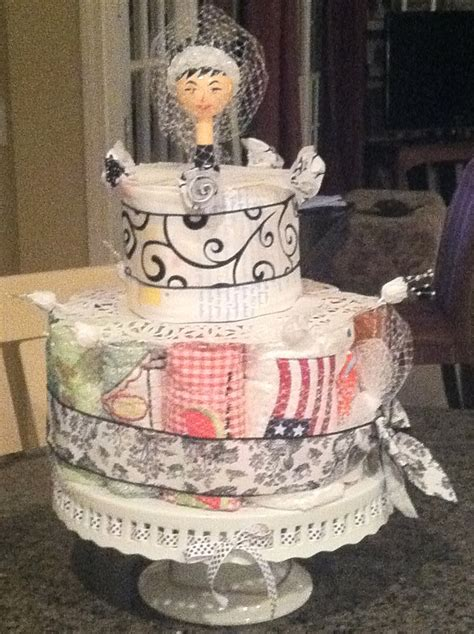 kitchen bridal shower cake ideas a theme kitchen towel cake i made for a kitchen shower a decorative kitchen towel for