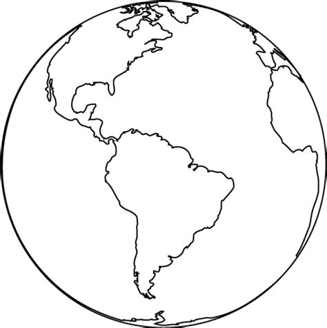 World Globe Coloring Page earth planet coloring page