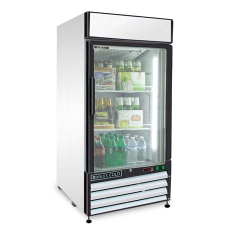 single glass door refrigerator maxx cold mxm1 12r single glass door refrigerator 12 cu ft