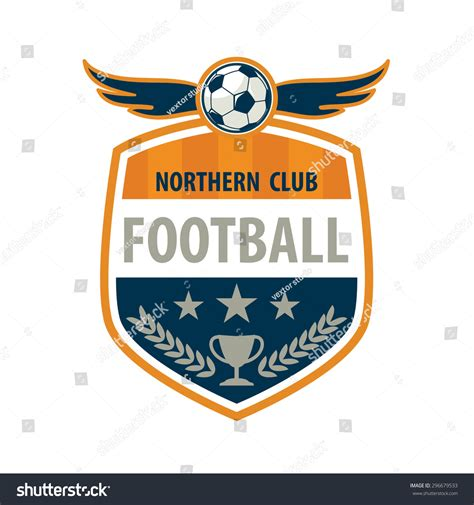 football badge logo template designsoccer teamvector stock