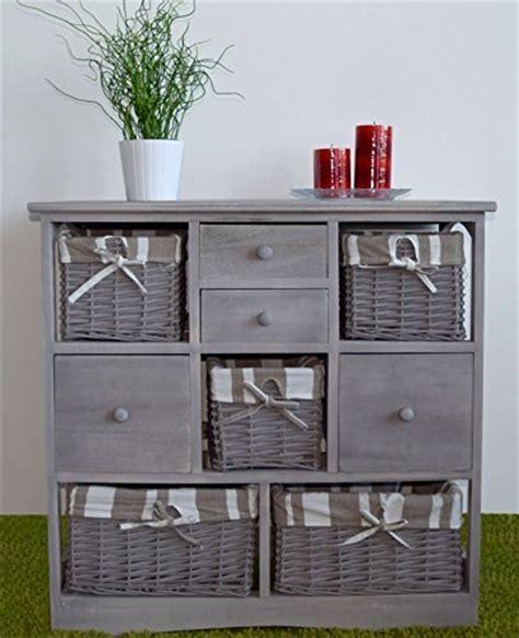 cassettiere decorate credenza cassettiera mobile 8 cassetti cestini vimini