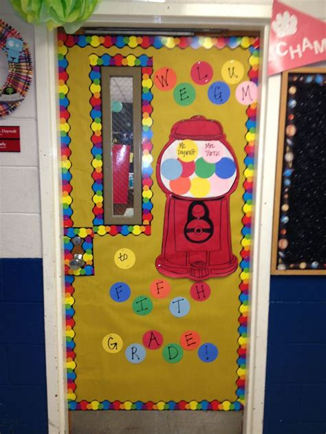 back to school door classroom ideas back to gumball and back to school