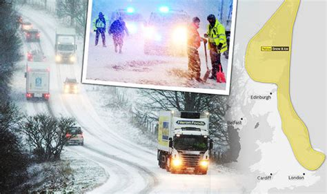 will it snow tomorrow met office weather warning for heavy snow hits uk met office issues yellow weather