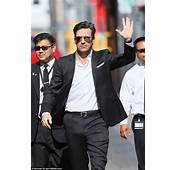Mad Mens Jon Hamm In A Black Two Piece Suit For Jimmy