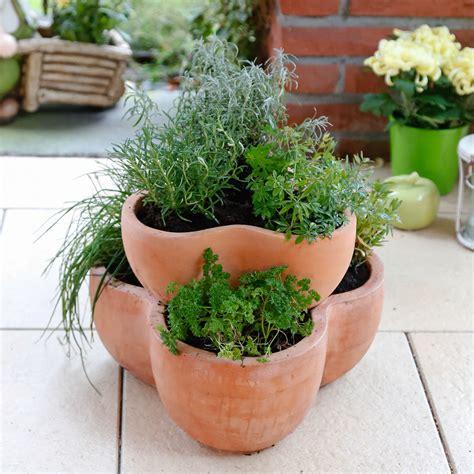 gartenbedarf auf rechnung bestellen terracotta etagen pflanztopf 2 teilig g 228 rtner p 246 tschke