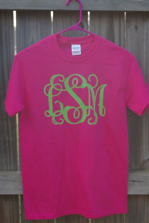 vinyl shirts sleeve large vinyl monogram t shirt from