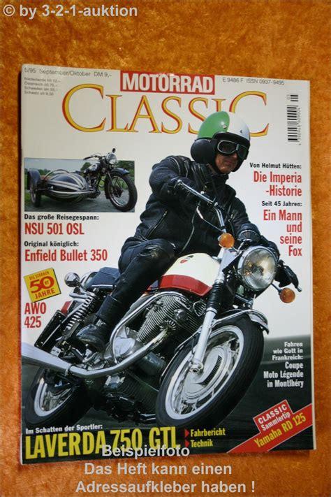 Nsu Motorr Der Ebay by Motorrad Classic 5 95 Laverda 750 Nsu 501 Osl Enfield Ebay