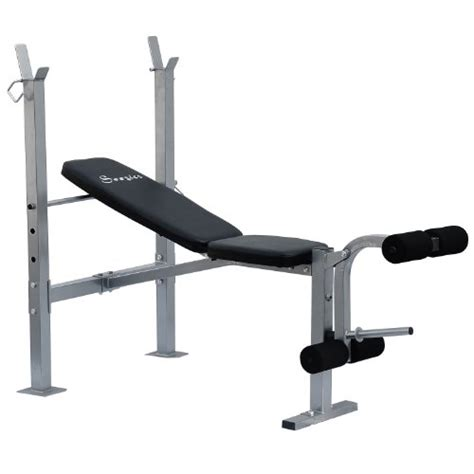 free weights bench soozier incline flat exercise free weight bench w leg extension