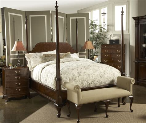 king post bedroom set king bridgeport pencil post bed