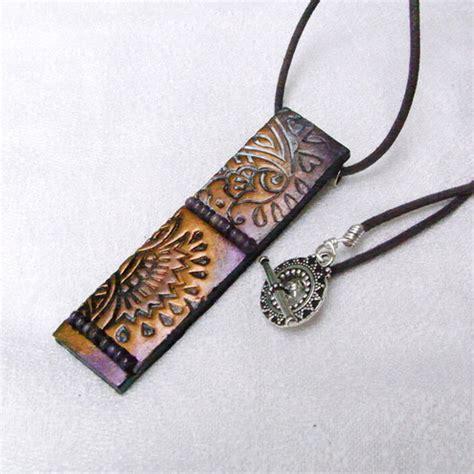 Folksy Handmade - folksy handmade quot polymer clay textured pendant metallic