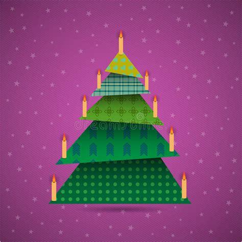 albero di natale con candele albero di natale variopinto di origami con le candele