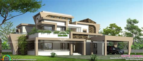 modern house plans unique house unique modern home design in kerala kerala home design and floor plans