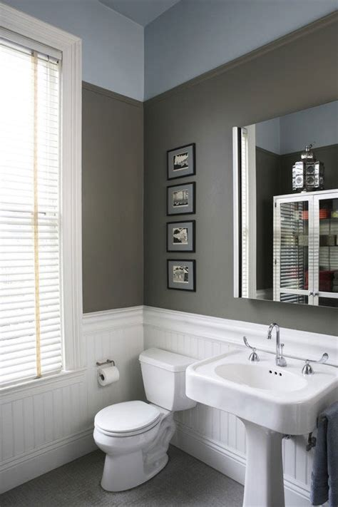 bathroom paint ideas gray design definitions what s the difference between wainscoting and beadboard apartment therapy