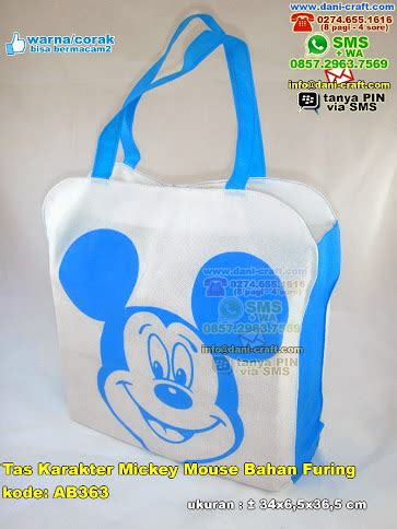Gantungan Kunci Lu Mickey Mouse tas karakter mickey mouse bahan furing souvenir pernikahan