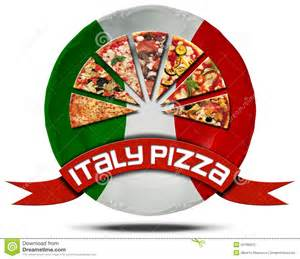 Traditional Italian Kitchen Design italy pizza plate with flag stock illustration image