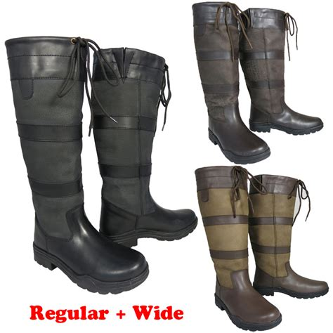 new mens winter stable leather regular wide