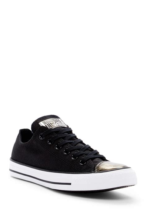 Converse Ct All Metallic Toecap Black converse chuck r all r brush metallic cap toe sneaker nordstrom rack
