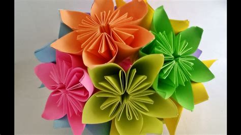 Easy Origami Flower Bouquet - how to make kusudama flower kusudama flower