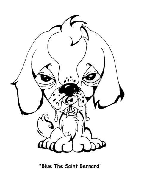 easy to draw saint bernard coloring pages