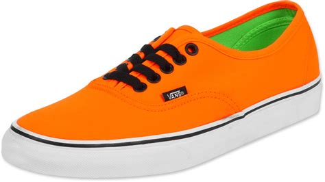orange shoes for vans authentic shoes neon orange green