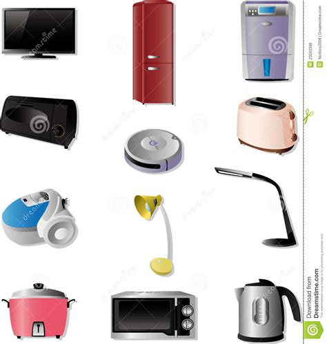 Microwave With Toaster Oven Home Appliances Icons Royalty Free Stock Image Image