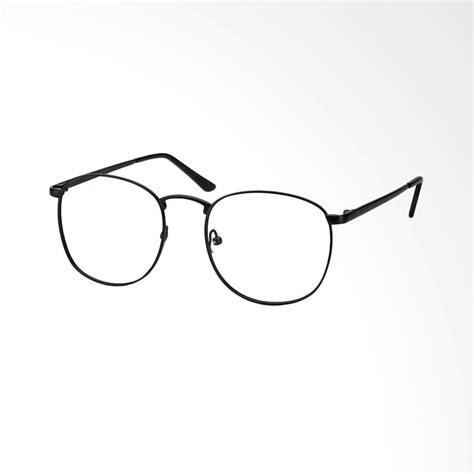 Kacamata Korea Kacamata Fashion Bulat Oval Hitam Trendy Gaya Keren jual bulat korea 0210lensa kacamata transparent frame