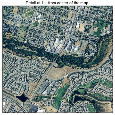 aerial photography map of lincoln ca california