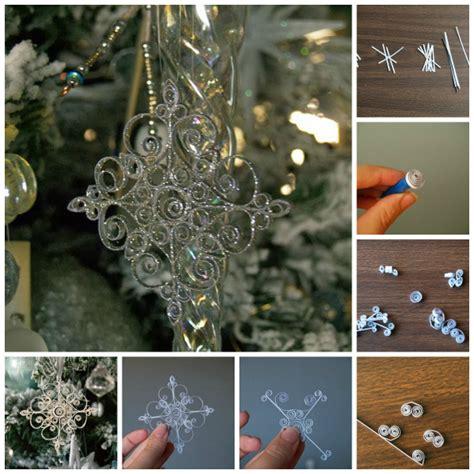 quilling snowflakes tutorial wonderful diy beaded snow ornaments