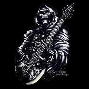 imagenes de calaveras heavy metal rock n roll heavy metal gothic skull gitarren t shirt