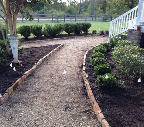 pea gravel walkway almost finished give a a