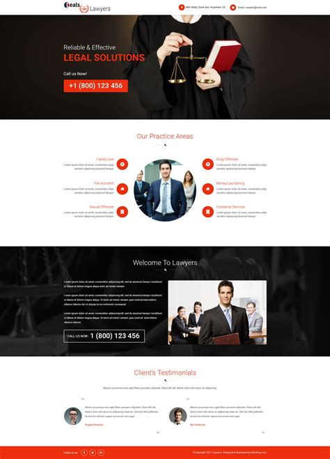 Attorney And Law Ppc Landing Page Design Template With Free Landing Page Builder Olanding Ppc Landing Page Templates