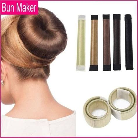 how to use a bun builder magic diy hair bun maker choicest1