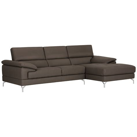 microfiber chaise sectional city furniture dash dk gray microfiber right chaise sectional