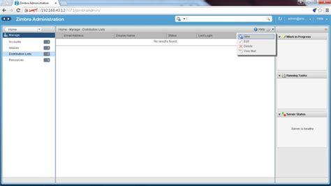 membuat email server zimbra membuat distribution list pada zimbra