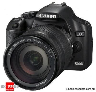 Canon 500d Kit Canon Eos 500d Kit 18 200mm Lens Digital Slr Shopping Shopping Square Au