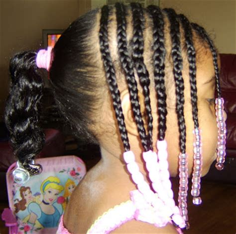 cornrow hairstyles half head sassy styles for kids july 2009