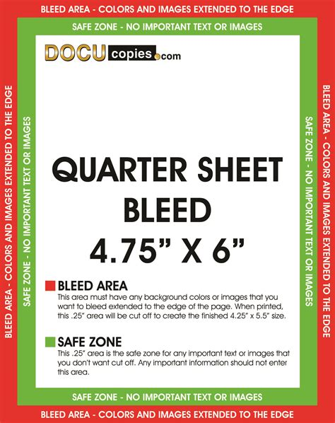 quarter page flyer template learn about printing your next project with bleeds