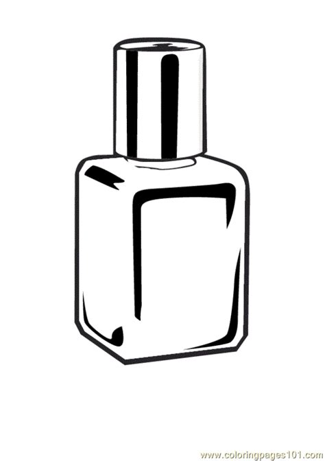 nailpolish coloring page free printable coloring pages