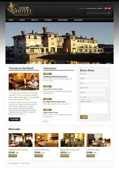 website template luxury hotels and carousels on pinterest 1000 images about hotel spa web design layouts on