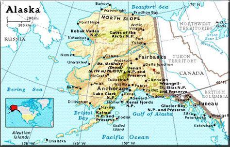 us map that shows alaska major roads alaskacompared states