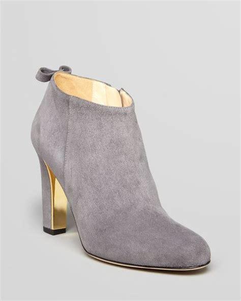 grey high heel booties kate spade booties netta high heel in gray grey lyst
