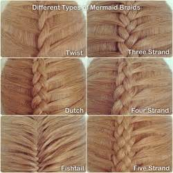 names of different hair braids different types of mermaid braids for those who don t know