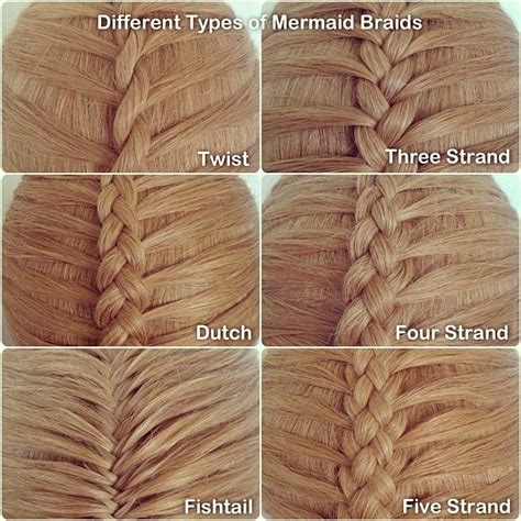 Different Type Of Hair Braids by Different Types Of Mermaid Braids For Those Who Don T