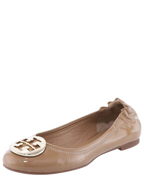 Trend Report Burch Reva Flats Are Going To Be This Second City Style Fashion by Burch Reva Tumbled Patent Ballerina Flat In Brown