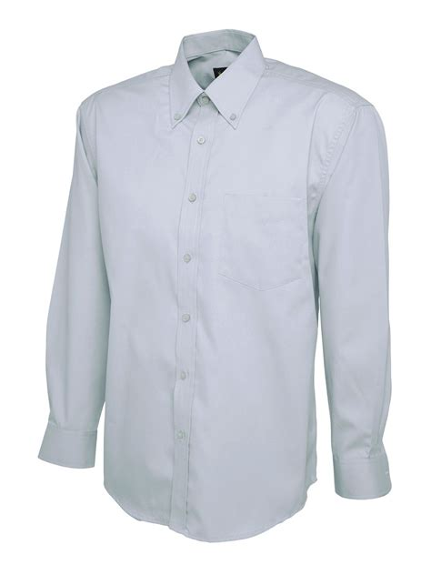 Shirt Oxford Soft Blue Line Mix Grey embroidered mens oxford sleeve shirt