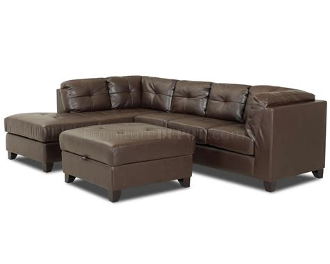 Affordable Ottomans Brown Bonded Leather Affordable Sectional W Optional Ottoman