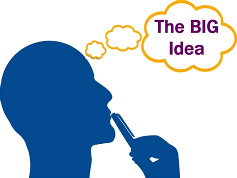 The Big by What S The Big Idea