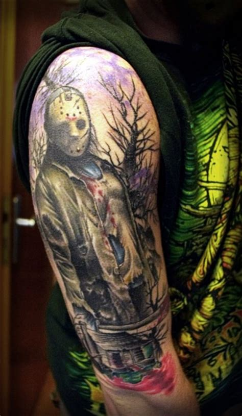 jason voorhees tattoo best tattoos of jason voorhees artists