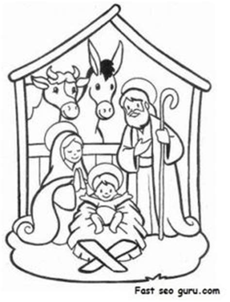 jesus manger or crib coloring pages holidays and observances nativity scene coloring page sunday school craft and
