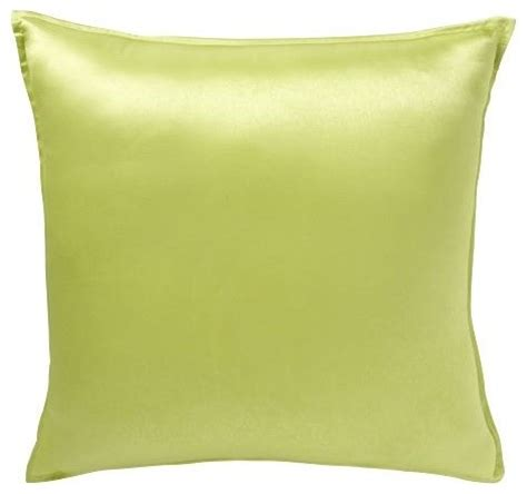 Chartreuse Pillows by Solid Silk Pillow Cover Chartreuse